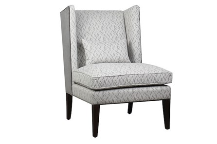 Chevron Pepperberry Accent Chair