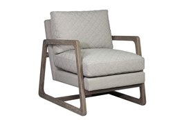 Grey Quilted Chair