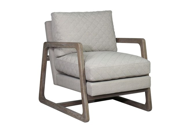 Grey Quilted Chair - 360