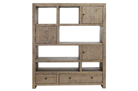 Reclaimed Pine Grey Bookcase