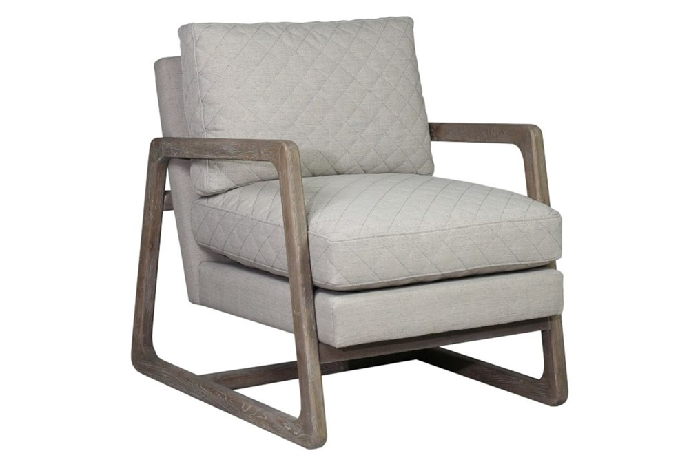 Beige Quilted Chair