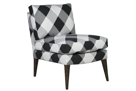 Checked Armless Chair