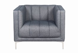 Black Denim Chesterfield Chair