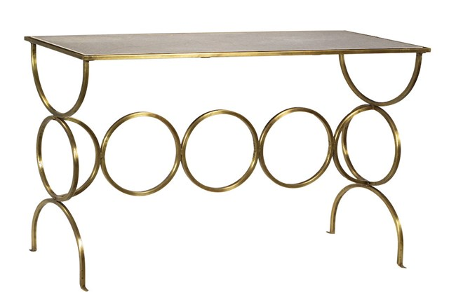 Contemporary Brass Console Table - 360