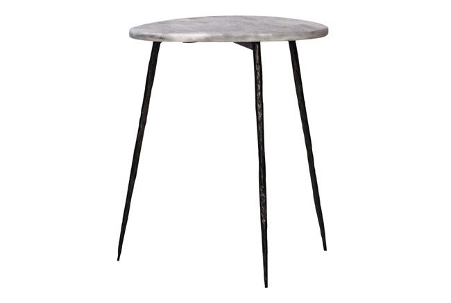 White Marble Side Table - 360