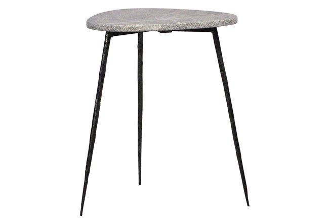 Grey Marble Side Table - 360