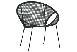 Black Wicker Occasional Chair