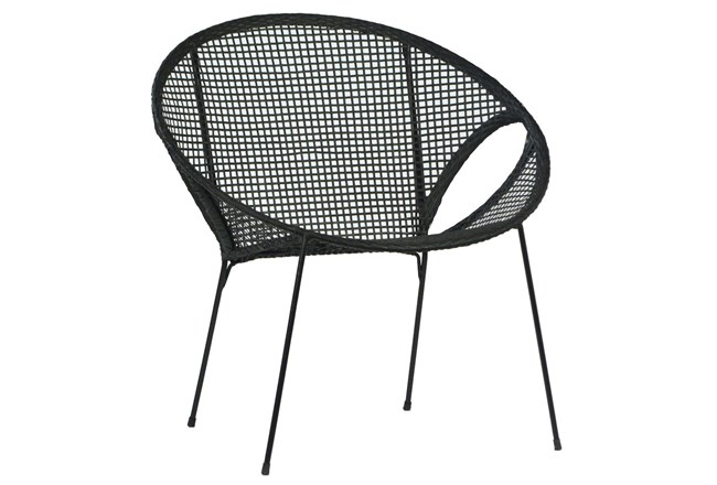 Black Wicker Occasional Chair - 360