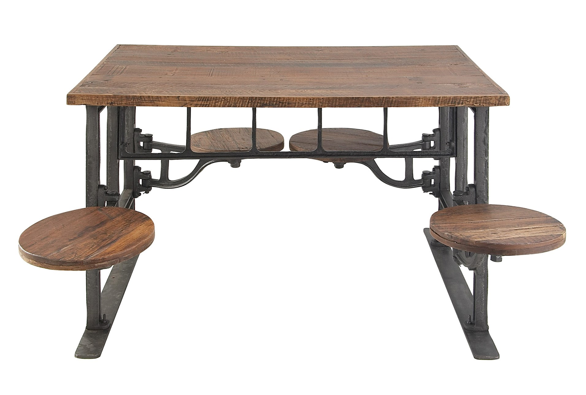 sports shoes f982d 099b4 Teak Metal Dining Table W/Swivel Stools