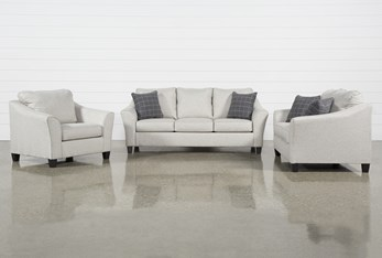 Kinsley 3 Piece Living Room Set With Queen Sleeper