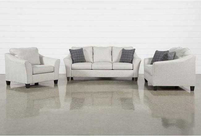 Kinsley 3 Piece Living Room Set With Queen Sleeper - 360