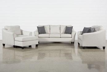 Kinsley 4 Piece Living Room Set With Queen Sleeper