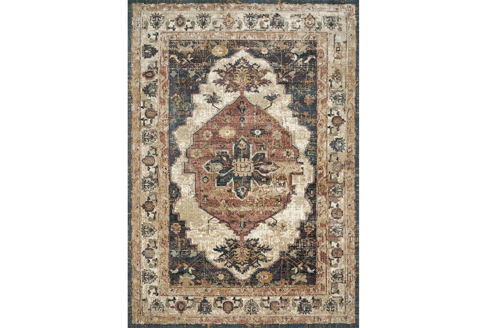 42X62 Rug-Magnolia Homes Evie Ivory/Spice By Joanna Gaines