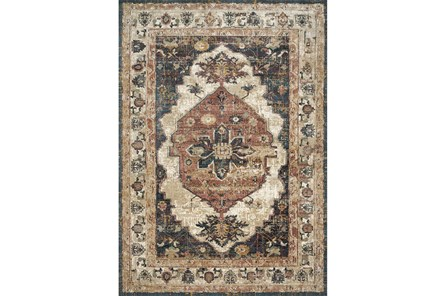 91X130 Rug-Magnolia Homes Evie Ivory/Spice By Joanna Gaines