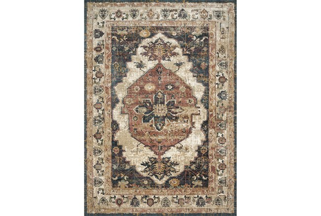91X130 Rug-Magnolia Homes Evie Ivory/Spice By Joanna Gaines - 360