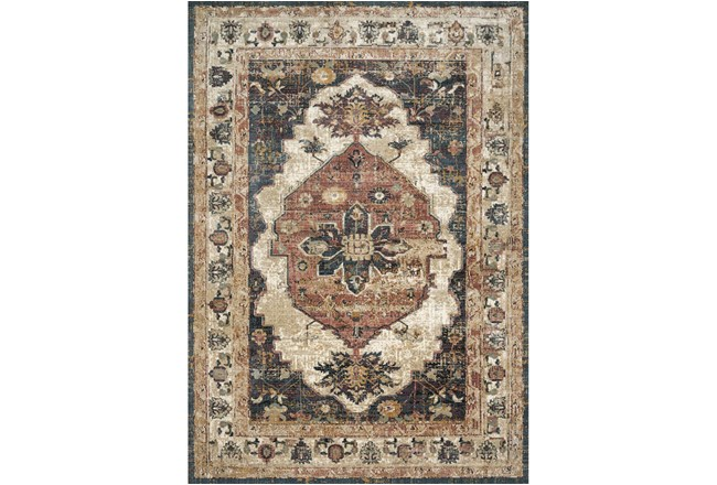 110X156 Rug-Magnolia Homes Evie Ivory/Spice By Joanna Gaines - 360