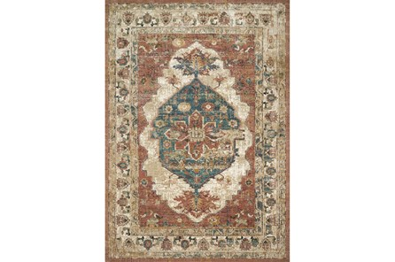 61 Inch Round Rug-Magnolia Homes Evie Spice/Multi By Joanna Gaines