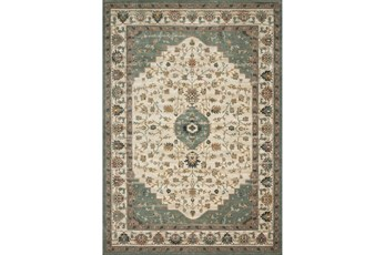 76X110 Rug-Magnolia Homes Evie Ivory/Jade By Joanna Gaines