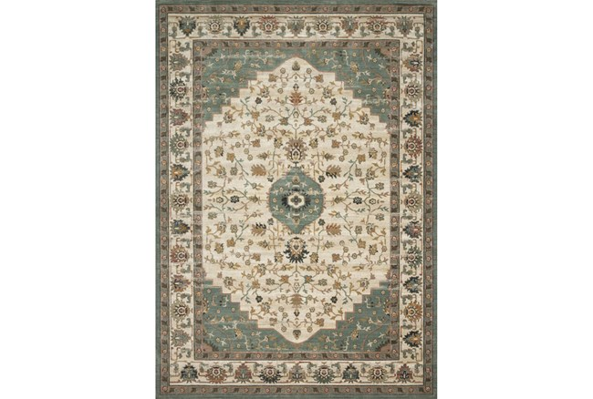 76X110 Rug-Magnolia Homes Evie Ivory/Jade By Joanna Gaines - 360