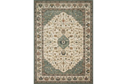 91X130 Rug-Magnolia Homes Evie Ivory/Jade By Joanna Gaines