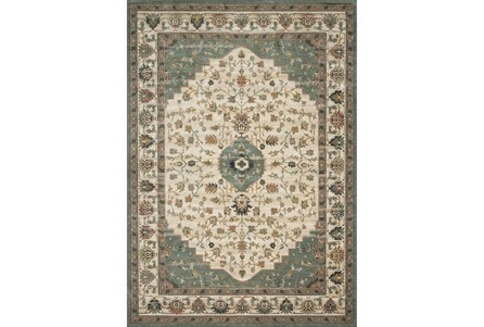 110X156 Rug-Magnolia Homes Evie Ivory/Jade By Joanna Gaines