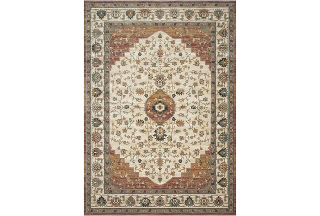 61X92 Rug-Magnolia Homes Evie Ivory/Terracotta By Joanna Gaines - 360