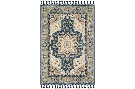 93X117 Rug-Magnolia Home Kasuri Blue/Multi By Joanna Gaines