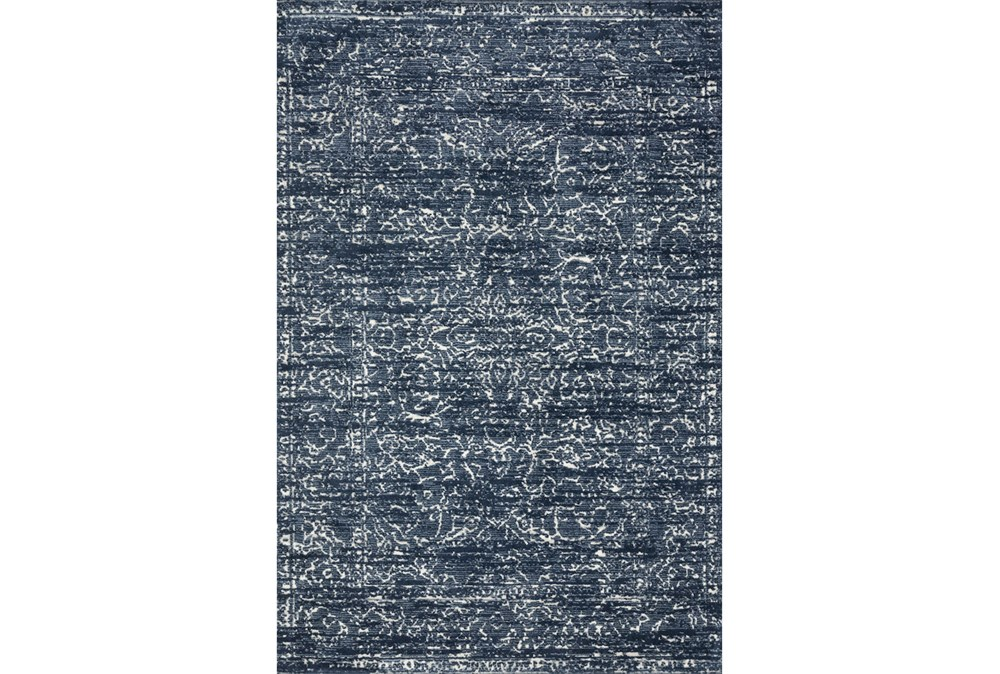 93X117 Rug-Magnolia Home Lotus Blue/Cream By Joanna Gaines
