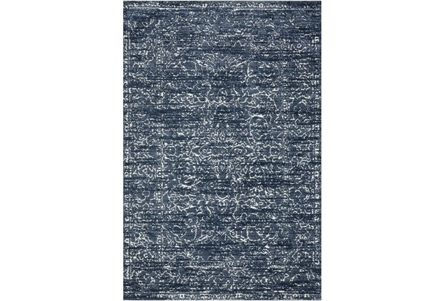 93X117 Rug-Magnolia Home Lotus Blue/Cream By Joanna Gaines - 360
