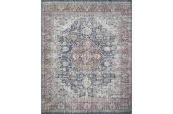 30X90 Rug-Magnolia Home Lucca Denim/Terracotta By Joanna Gaines