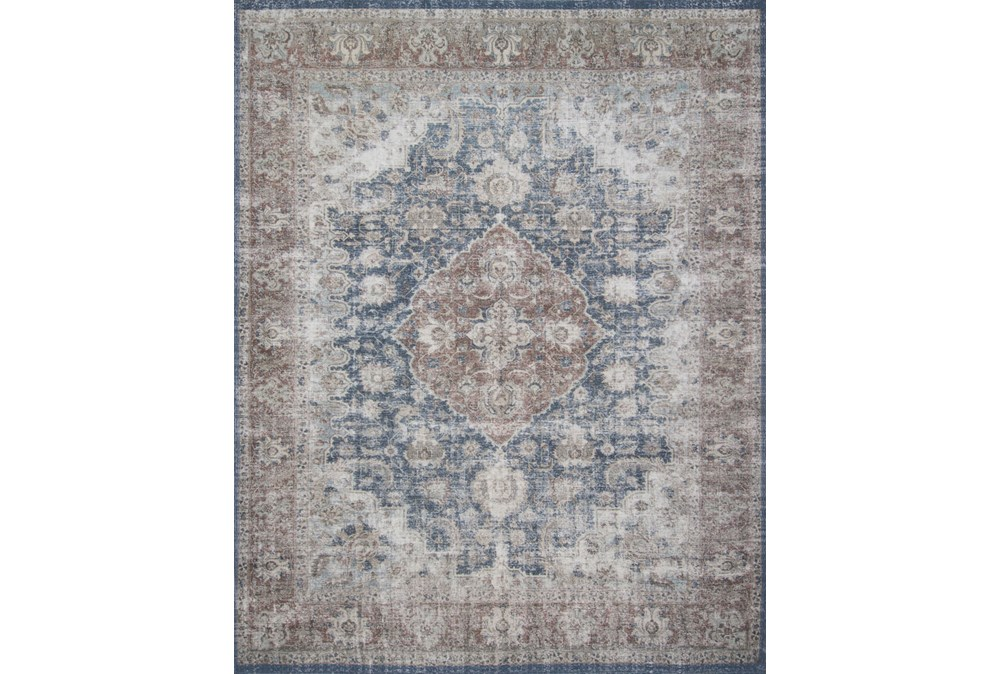 120X156 Rug-Magnolia Home Lucca Denim/Terracotta By Joanna Gaines