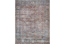 27X45 Rug-Magnolia Home Lucca Brick/Ocean By Joanna Gaines
