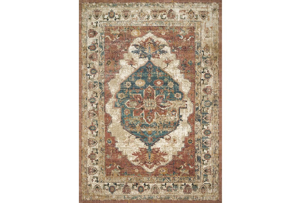 91 Inch Round Rug-Magnolia Homes Evie Spice/Multi By Joanna Gaines