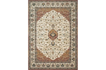 76X110 Rug-Magnolia Homes Evie Ivory/Terracotta By Joanna Gaines