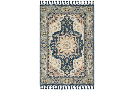 60X90 Rug-Magnolia Home Kasuri Blue/Multi By Joanna Gaines