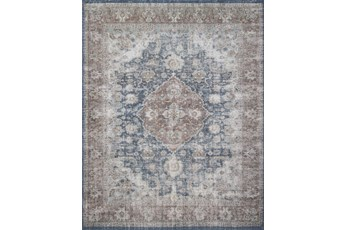 27X45 Rug-Magnolia Home Lucca Denim/Terracotta By Joanna Gaines
