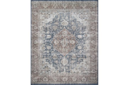 45X66 Rug-Magnolia Home Lucca Denim/Terracotta By Joanna Gaines