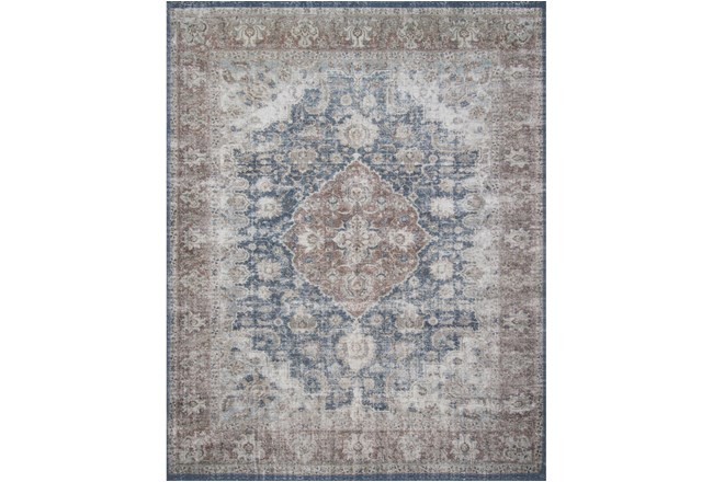 45X66 Rug-Magnolia Home Lucca Denim/Terracotta By Joanna Gaines - 360