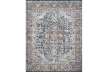 60X90 Rug-Magnolia Home Lucca Denim/Terracotta By Joanna Gaines