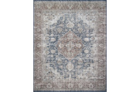 90X114 Rug-Magnolia Home Lucca Denim/Terracotta By Joanna Gaines