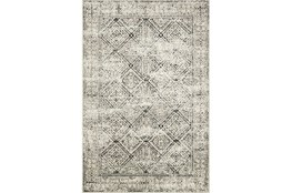 60X90 Rug-Magnolia Home Lotus Ivory/Black By Joanna Gaines