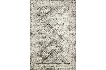 60X90 Rug-Magnolia Home Lotus Ivory/Black By Joanna Gaines - Main