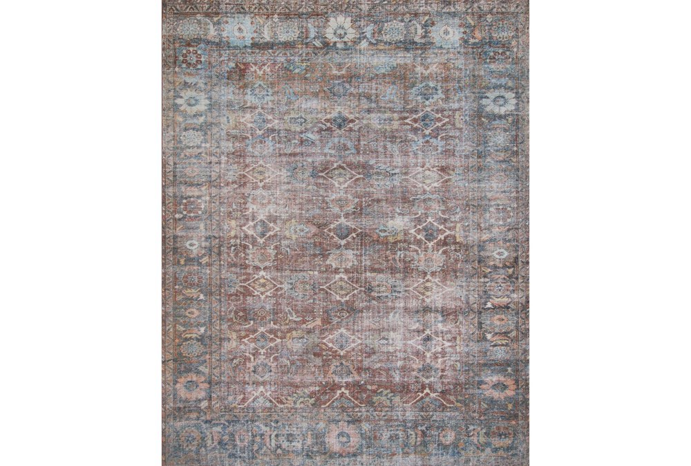 """2'5""""x7'5"""" Rug-Magnolia Home Lucca Brick/Ocean By Joanna Gaines"""