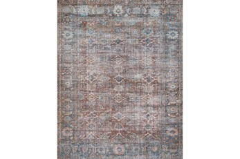 30X90 Rug-Magnolia Home Lucca Brick/Ocean By Joanna Gaines