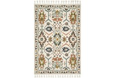 60X90 Rug-Magnolia Home Kasuri Ivory/Tuscan Clay By Joanna Gaines