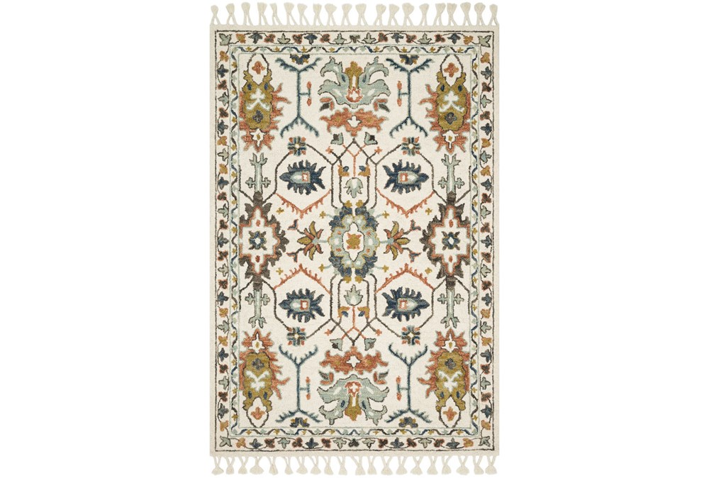 27X45 Rug-Magnolia Home Kasuri Ivory/Tuscan Clay By Joanna Gaines