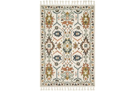27X45 Rug-Magnolia Home Kasuri Ivory/Tuscan Clay By Joanna Gaines