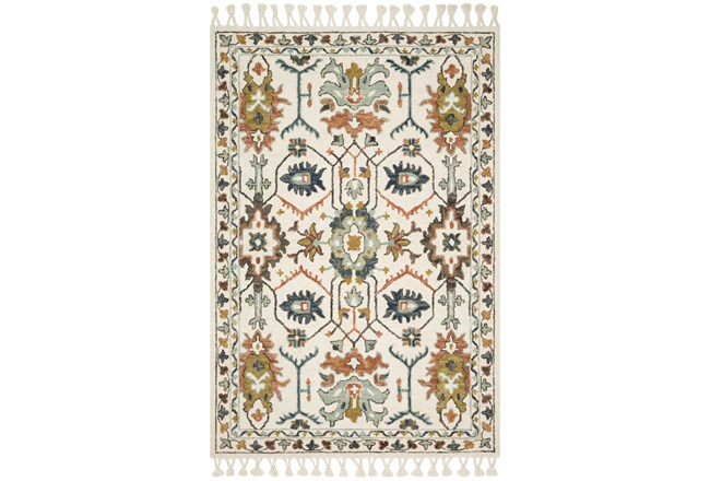 27X45 Rug-Magnolia Home Kasuri Ivory/Tuscan Clay By Joanna Gaines - 360