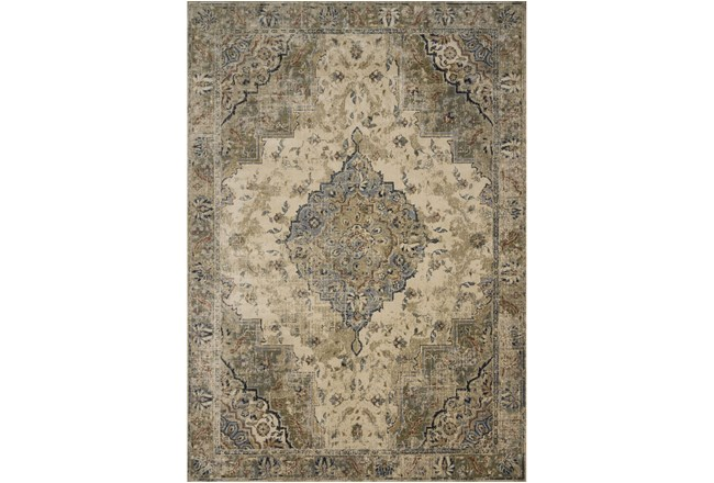 91X130 Rug-Magnolia Homes Evie Sand/Sage By Joanna Gaines - 360