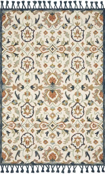111X156 Rug-Magnolia Home Kasuri Ivory/Multi By Joanna Gaines